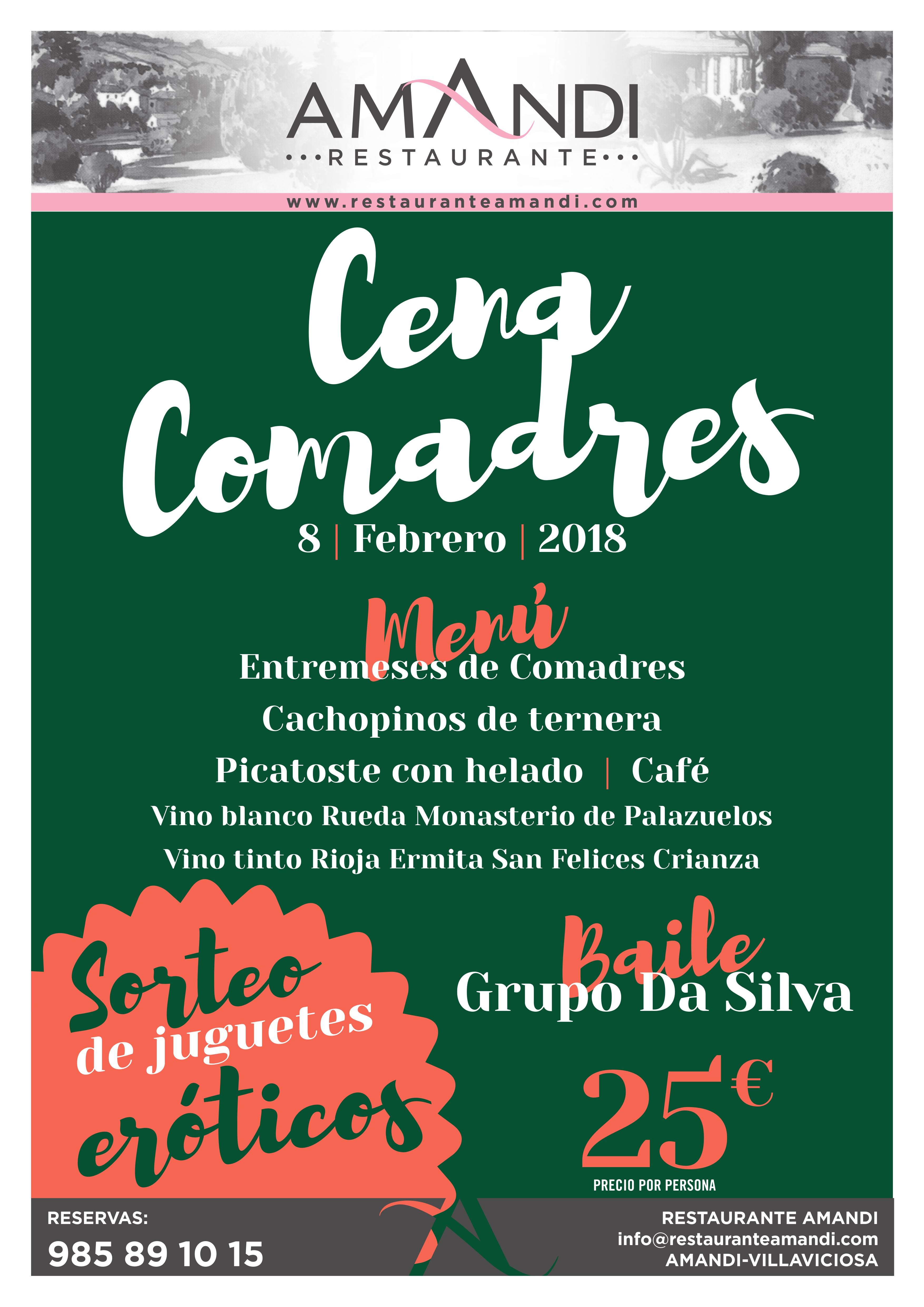 CENA COMADRES FEBRERO 2018