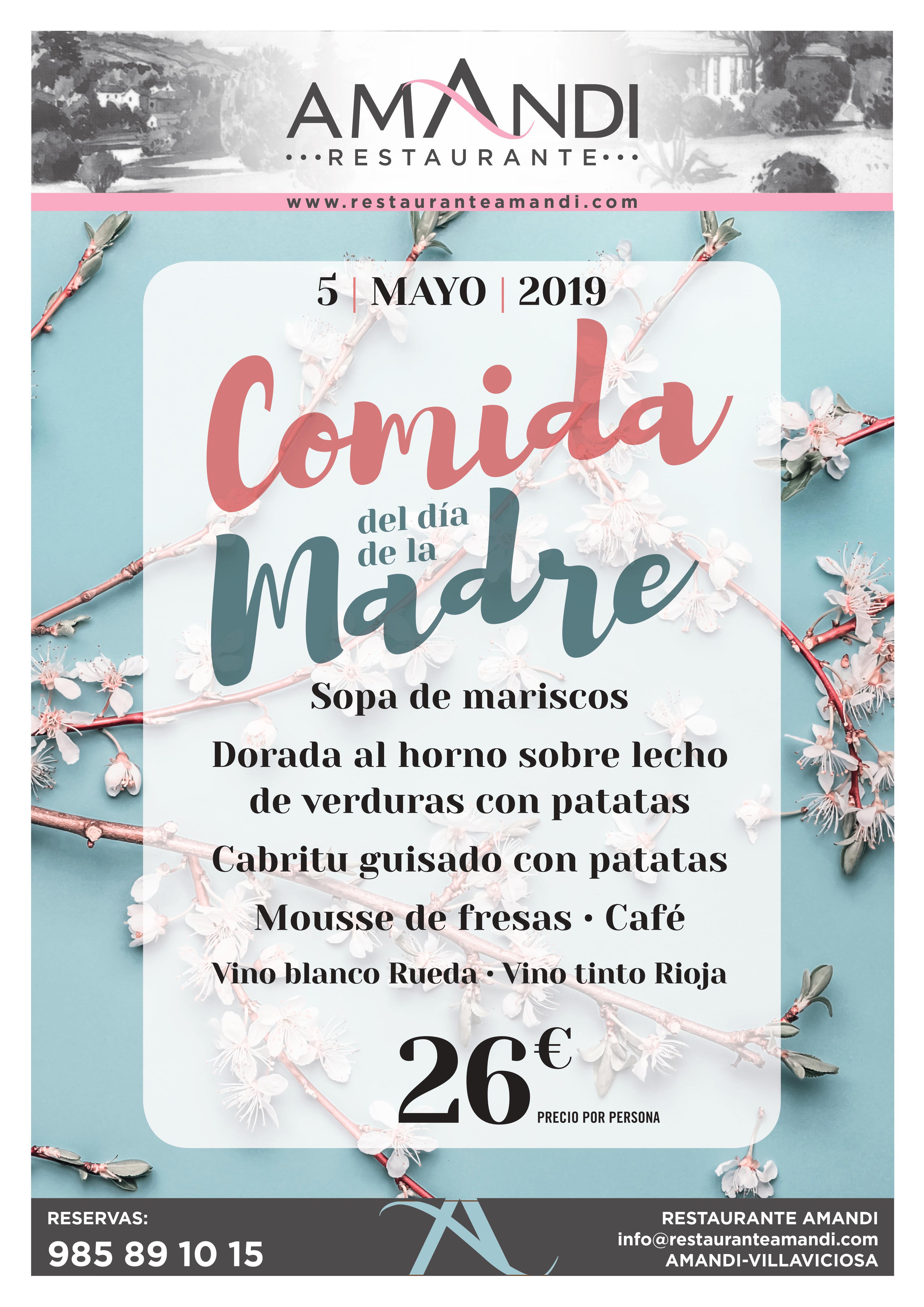 COMIDA DIA DE LA MADRE MAYO 2019